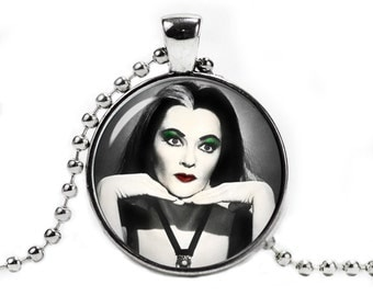 Lily Munster Necklace Lily Munster Pendant Munsters Jewelry Halloween Jewelry Fangirl Fanboy