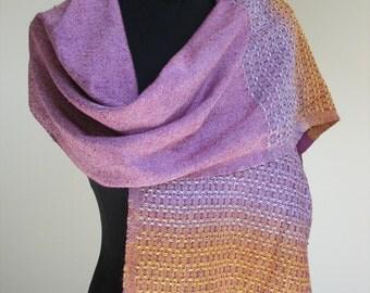 handwoven silk/bourette silk scarf