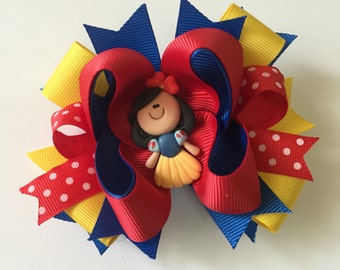SNOW WHITE princess bow clips