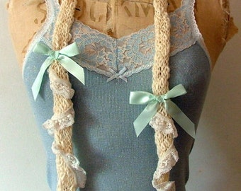 knitted skinny scarf.. A perfect gift ...