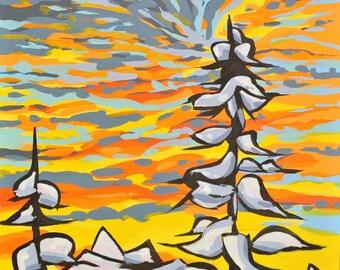 Spring Storm - Print of Original Painting