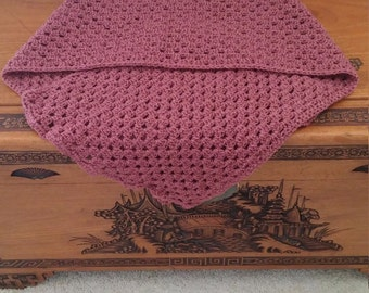 Pink Crocheted Shawl