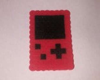 Red Game Boy made from Perler Beads