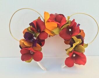 Vibrant Floral Minnie Ears