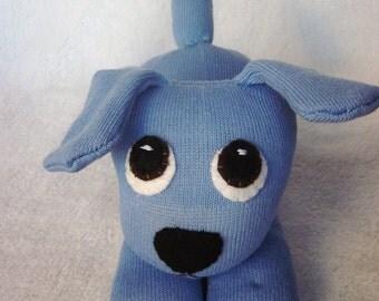 Blue sock dog from Ibiza