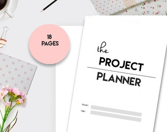 Project Planner Printable, Productivity Planner, Project Management, Academic Planner, Goal Project, A5 Planner Inserts, Planner