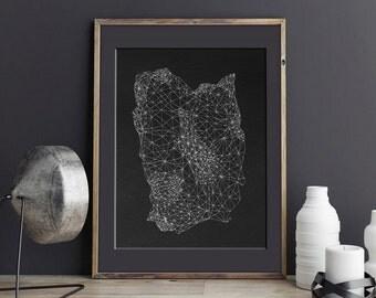 Geometric Art Print, Digital Download Art, Sacred Geometry, Black and White Art, Modern Decor Art Print,  Printable Digital Download