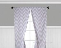 Lavender Wisteria Curtains Nursery Decor Window Treatments Panels Purple Chevron Curtains Valance Stripe Drapes
