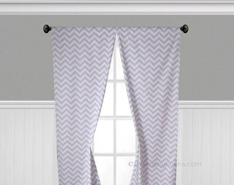 Lavender Wisteria Curtains Nursery Decor Window Treatments Panels Purple Chevron Curtains Valance Stripe Drapes