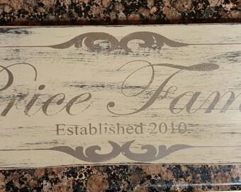Established Hand Painted Wooden Sign