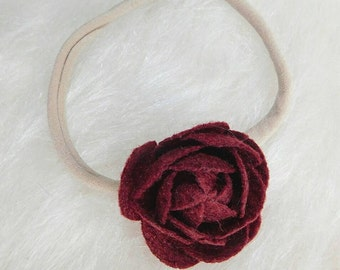 Rose Felt Flower Headband