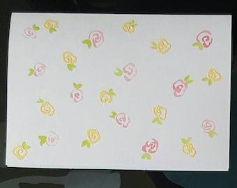 Flower cards- blank 2 pack