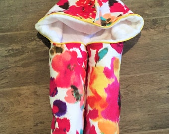 Wildflower Hooded Towel - Baby Hooded Towels - Kids Hooded Towel - Baby Bath Towel - Beach Pool Swim Towel- Baby Shower Gift