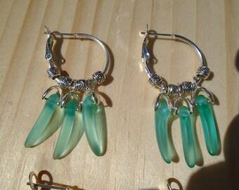 czech glass claw earrings