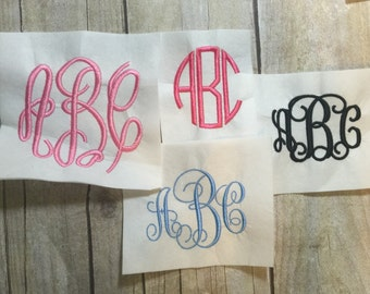 Monogram Font Embroidery Package Deal, 4 Monogram Fonts Package