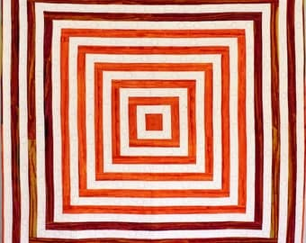 Orange creamsicle throw or baby quilt