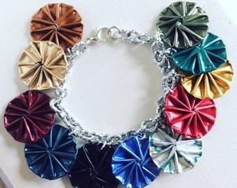 Handmade bracelets by reusing nespresso capsules