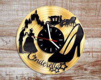 Cinderella vinyl wall clock. Gold record.