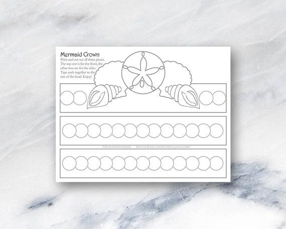 Mermaid Crown-Coloring Page-Printable-Instant