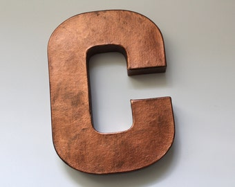 Copper Letters, Metal Letters, Rusty Metal Letters, Industrial Decor, Industrial Letters, Kitchen Letters, Kitchen Sign, Vintage Metal Signs