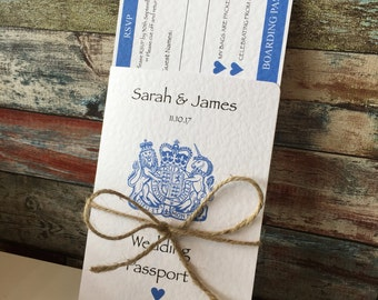 Passport & Boarding Pass Wedding Invitations