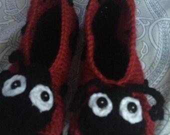Ladies Ladybug Slippers