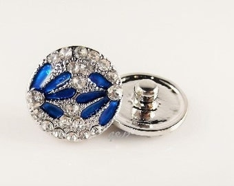 Blue Daisy snap charm, snap jewelry,compatible with ginger snap jewelry,magnolia vine accessories