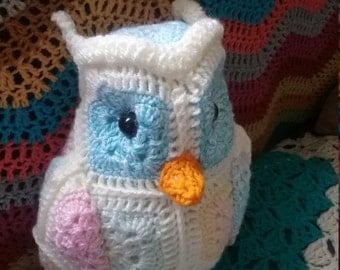 Hand Crocheted Fatty Little Owl