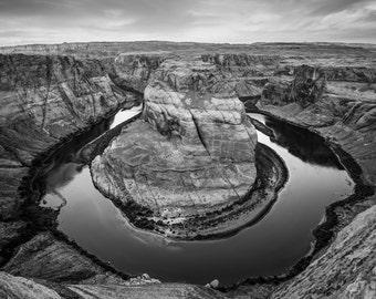 Canyon Print | Black and White Art | Arizona Art | Grand Canyon Art | Nature Art Prints | Landscape Photography | River Prints | Wall Art
