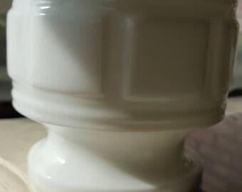 Vintage Milk Glass Planter or Candle Holder