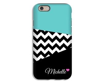 Monogram iPhone 8 case/8 Plus, chevron iPhone 7 case, personalized iPhone 7 Plus case, iPhone X case, iPhone 6s/6s Plus/6/6 Plus/5s/5 cases