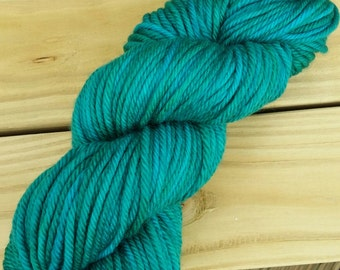 "Kelp  - Bulky Yarn- ""Fathom"" - superwash merino - 137 yards/100grams"