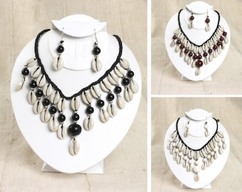 Cowrie Shell Jewelry Set (J-S832)