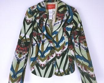 Christian Lacroix jeans Art Graphic Print velor jacket