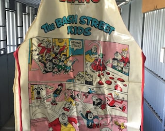Vintage 1980s Apron - The Beano - The Bash Street Kids / Comic Strip Apron / Vintage English Comic Strip