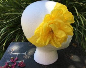 Yellow Headband, girl headband, flower headband, baby headband