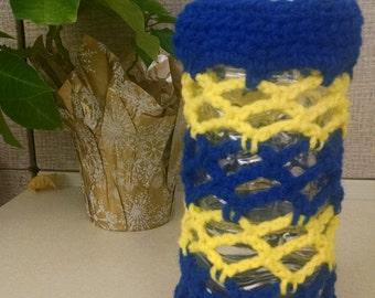 Water bottle holder - Blue/Yellow (UR)