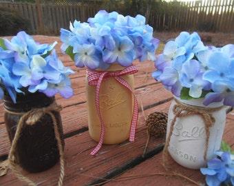 Mason Jar Centerpiece, rustic, farmhouse, kitchen table centerpieces, dining table centerpieces, wedding gifts, housewarming gifts, party