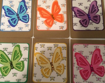 Butterfly Greeting Card Set, Greeting Card, Blank Cards