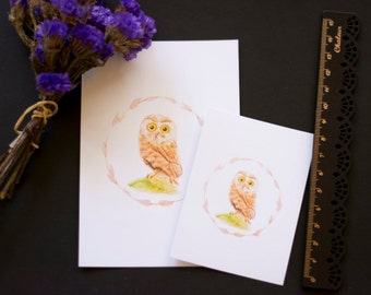 Watercolour Art Print - Mr Hoots