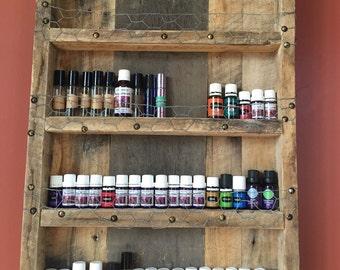 Essential Oils Rustic Barnwood Shelf