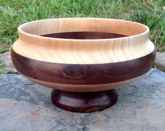 Walnut and Maple Centerpiece Bowl