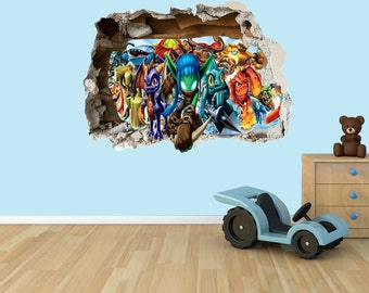 Skylander 3D Effect Graphic Wall Vinyl Sticker Decal