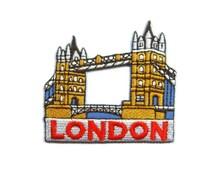 London Bridge United Kingdom UK England Embroidered Applique Iron on Patch 6.5 cm. x 6.2 cm.