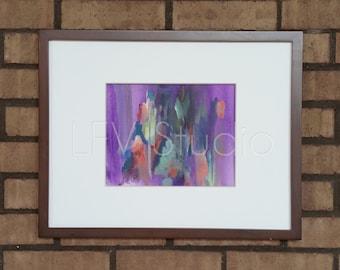 Original Abstract Watercolor & Acrylic Painting Multi-color Series #007 - LFV Studio