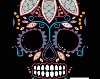 Mexican Skulls Digital Illustrations