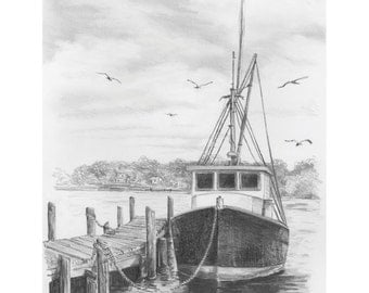 Sketching Made Easy-Fishing Boat