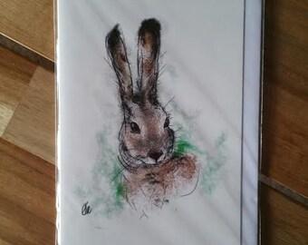 Greeting card - hare