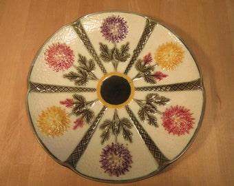 Majolica Wedgwood aster plate