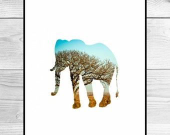 Nursery Art Print - Elephant